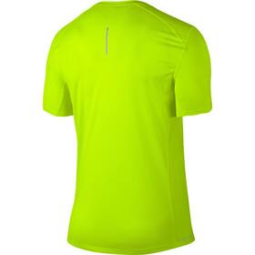 Nike Dry Miler Hardloopshirt korte mouwen Heren geel